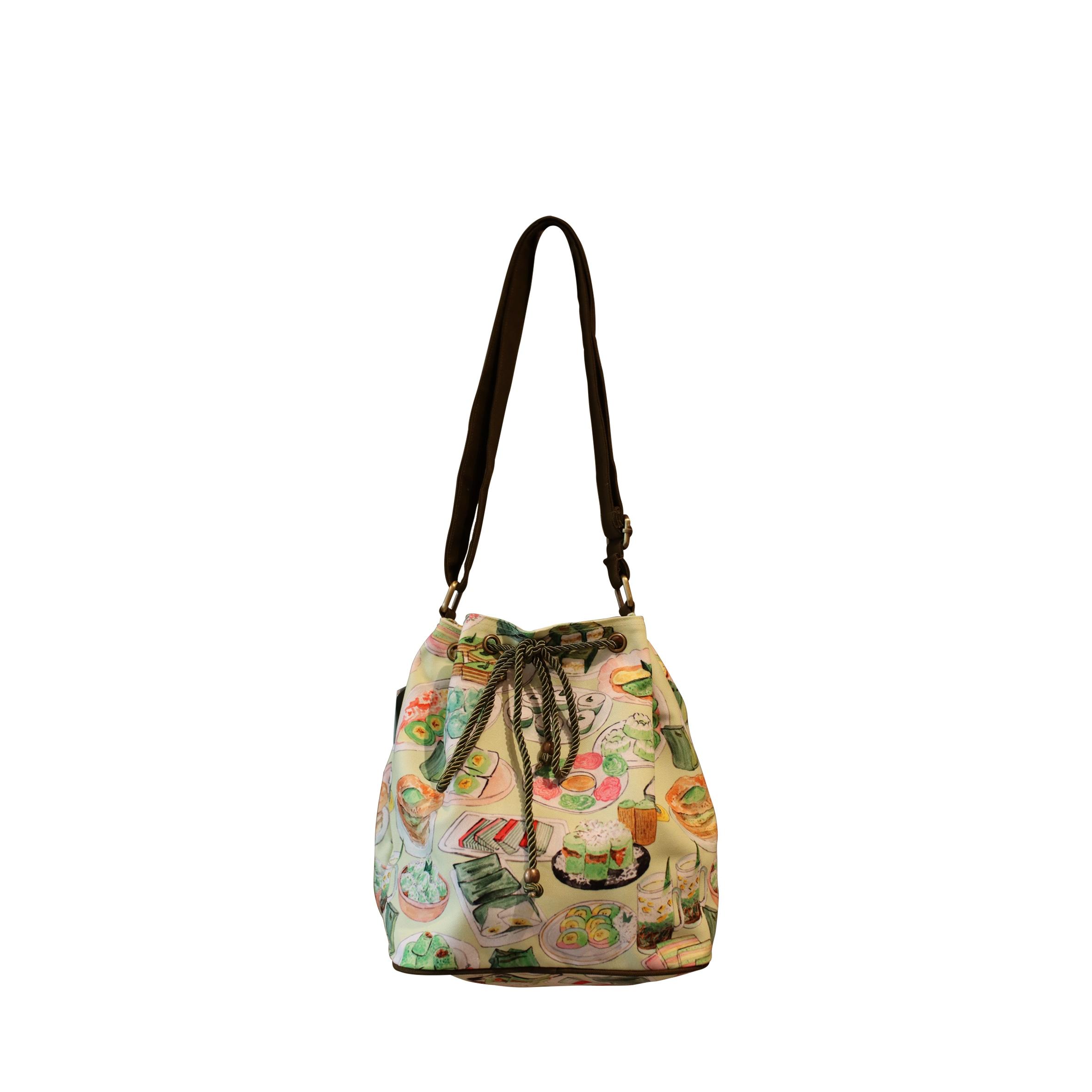 Jajan Pasar Bucket Sling Bag